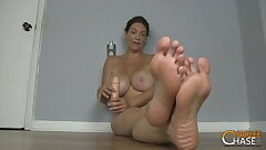 Big Boobed MILF Charlee Pursue Wants You To Scent Her Feet!