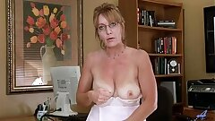 Hefty Tits Mature Office Getting off