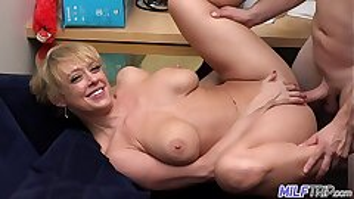 MILF Trip - Super horny blonde big-boobed MILF can't get enough cock - Part 1