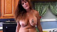Beautiful large tits Mummy is perceiving horny