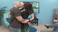 Milf fucks a stranger while cuckold husband takes pictures with his phone