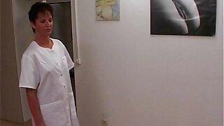 Mummy Nurse Sexy Stockings Office Pummeled 2 Doctors