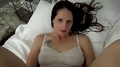 Mom & Son-in-law Share a Couch - Mom Wakes Up to Son-in-law Masturbating - POV, MILF, Family Sex, Mother - Christina Sapphire