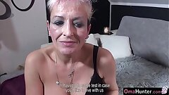 OmaHunter Teen gal with strapon fucks chubby mature