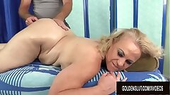 Mature Blonde Summer Vibed with Rubdown and Toys till Orgasm