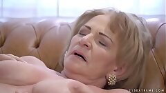 Insatiable grannie Sally G needs some cock