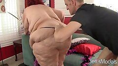 Super fat woman drilled