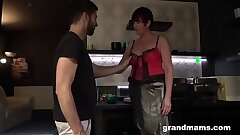 Slutty Granny Takes Supreme Care of Her Boy Toy