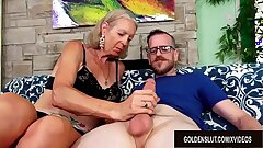 Tall Grandmother Super Sexy Has Her Tight Butt hole Splayed by a Younger Fellow