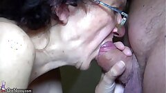 OldNanny Mother and Teen tugging and inhaling dick beau