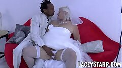LACEYSTARR - Granny bride fed with spunk after BBC pounding