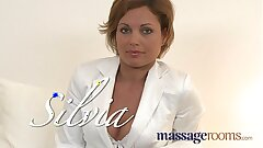 Massage Apartments Hot MILF loves big oily fingers deep in her juicy moist pussy