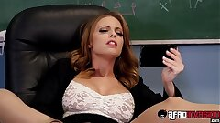 Smoking hot Britney Amber spitroasted by BBC schoolgirls
