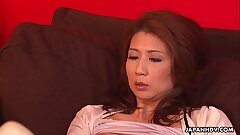 Asian milf has a intercourse toy session with her pussy