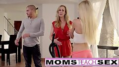 Moms Train Hump - Big tit mom catches daughter-in-law