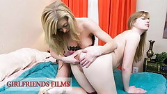 GirlfriendsFilms - Dolly Leigh Scissor Fucked By Huge-chested MILF