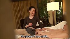 Subtitled Japanese milf rubdown therapist seduction in HD