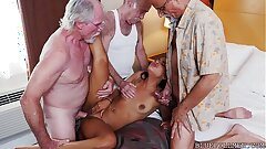 Teen Group-fucked by Grandpas
