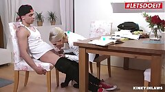 LETSDOEIT - Hot Fat Rump Cougar Mommy Vanessa K. Tease And Bangs With Stepson At The Office