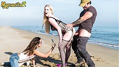MAMACITAZ - Brit Mummy Blondie Has Bang-out On The Beach With A Lucky Fisherman - Georgie Lyall