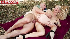LETSDOEIT - Humungous Ass French MILF Anal Fucked On Picnic Sex