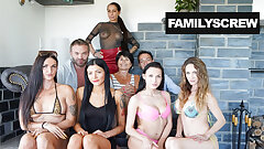 Sisters Acting like Whores - Stepfamily Sticks Together