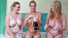 Big aged knockers getting soapy, with feet fun