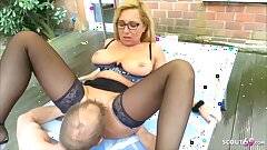 German Mature Wife Has Hotwife Sex In The Garden With The Neighbor