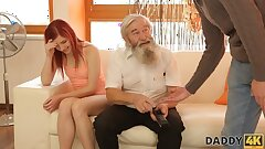 DADDY4K. Tender gal really likes to be caressed by bearded daddy