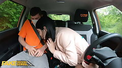 Fake Driving School Lady Dee sucks instructor dick