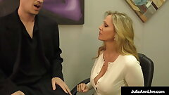 Lay Your Head Against My Tits! Julia Ann Wanks Her Stepson!