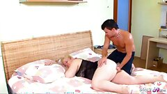 Bodacious STEPMOM Groped and Woken Up by Young Stepson to Fuck