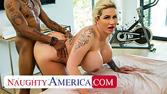 Naughty America - Ryan Conner pulls out masseuse's man meat